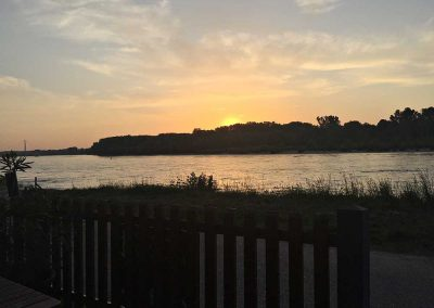 Sonnenuntergang, Kulturfabrik Hainburg